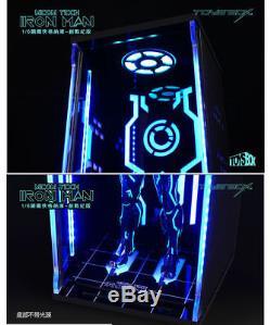 1/6 TOYS BOX Iron Man Hangar 4.0 MK4 Dustproof Figure Display Box Case Model