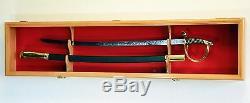 1 Sword Display Case Cabinet Stand Holder Wall Rack Box 98% UV Lockable 44.5