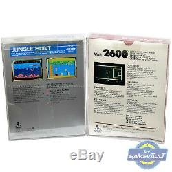 100 Game Box Protector for Atari 2600 5200 7800 STRONG 0.5m Plastic Display Case