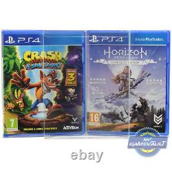 100 PS3/PS4 Game Box Protectors for Playstation STRONG 0.4m Plastic Display Case