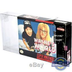 100 x Box Protectors for SNES N64 Game Super Nintendo 0.5mm Plastic Display Case