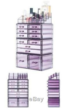 12-Drawers Makeup Cosmetic Jewelry Storage Large Organizer Display Boxes Case