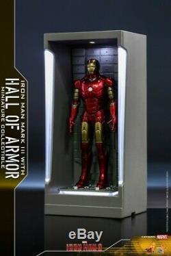 12cm Hot Toys MMSC005-11 Dust Box Display Case Iron Man 3 Hall of Armor Model