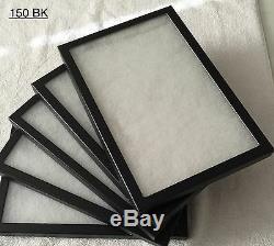 #150 (24) Riker Mount Display Case Shadow Box Frame Tray 12 X 8 X 3/4