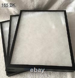 #165 (8) Riker Mount Display Case Shadow Box Frame Tray 16 X 12 X 1 1/4