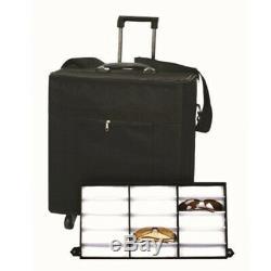 180 Slot Eyeglasses Eyewear Display Case Storage Sample Box Travel Trolley NEW