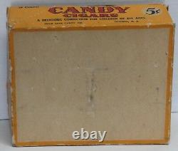 1940 / 1950's VINTAGE 24 BOX CANDY CIGARS PAPER ADVERTISING COUNTER DISPLAY CASE