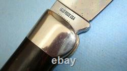 1972 CASE XX USA P172 BUFFALO WOOD HANDLES FOLDING KNIFE With DISPLAY BOX
