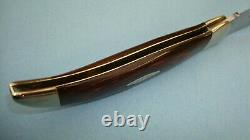 1973 CASE XX USA P172 BUFFALO WOOD HANDLES FOLDING KNIFE With DISPLAY BOX