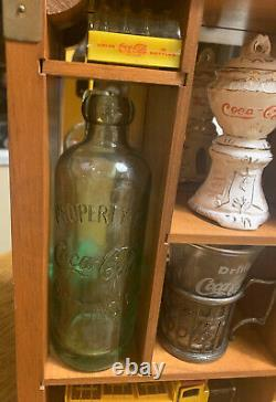1986 Coca-Cola 100th Centennial Celebration Display Case & Items WithBox