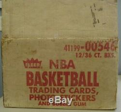 1986 Fleer Basketball Display Case with 12 Mint Empty Boxes Jordan Rookie Year