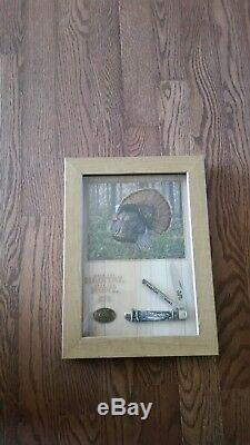 2015 nwtf case knife of the year with display/shadow box
