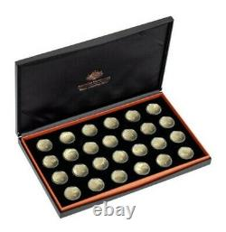 2019 Great Aussie Coin Hunt $1 Bronze Proof Set A-z With Display Case/box