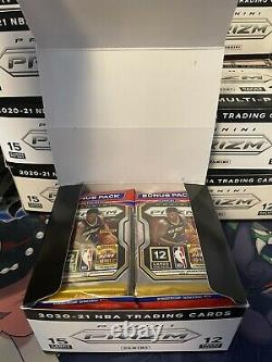 2020-21 Panani Prizm NBA Cello Packs LOT OF 12! FULL BOX WITH DISPLAY CASE