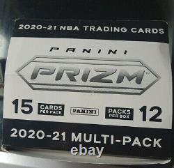 2021 Panini Prizm NBA Cello Packs LOT OF 12! FULL BOX WITH DISPLAY CASE