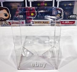 250 Box Protectors For FUNKO POP! 4 Vinyl Figures Clear Custom Display Cases