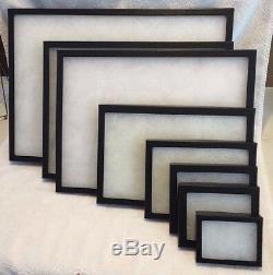 #290BK (8) Riker Mount Display Case Shadow Box Frame Tray 20 X 14 X 1 1/4