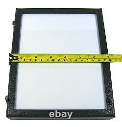 3 PCS GLASS TOP DISPLAY BOX SHOW CASE JEWELRY ORGANIZER GEM DIAMOND 8.5x6.8 INCH