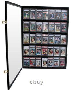 35 Graded Baseball Football Basketball Pokemon Card display Case Frame, CC05-BLA