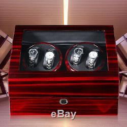 4 + 6 Automatic Watch Winder Wood Watch Winder Display Box Jewelry Storage Case
