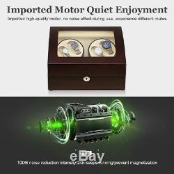 4+6 Wood Watch Winder Storage Display Case Organizer Box Automatic Rotation US