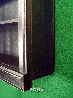 4 deep WALL CURIO CABINET SHADOW BOX DISPLAY CASE SHELF