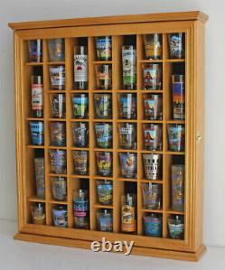 41 Shot Glass Display Case Rack Holder Wall Cabinet, Shadow Box SC03-OA