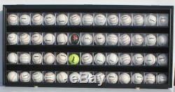 48 Baseball CUBE Display Case Wall Shadow Box Cabinet, UV Protect, Lock, HW14-BL