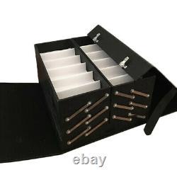 48 Slot Luxurious Eyeglasses Sunglasses Storage Organizer Display Case Box Black