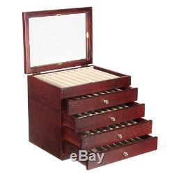 5 Layer Large-capacity Wooden Box Fountain Pen Display Storage Wood Case 50 Pens