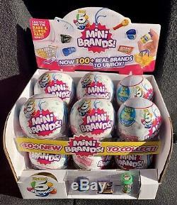 5 Surprise MINI BRANDS Zuru Full Case of 12 Balls with Display Box NEW
