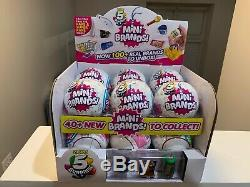 5 Surprise! Mini Brands Full Case Box Of 12 Balls With Display Box Made By Zuru