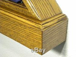 5 X 9 Oak With Base Flag Display Case Box American Military Burial Funeral USA