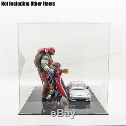 56cm L Acrylic Plastic Display Box Large Perspex Case Self-Assembly Dustproof