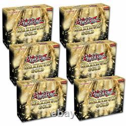6 x YuGiOh Maximum Gold Display Box 1st Edition Mini Boxes Factory Sealed Case