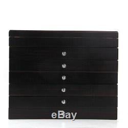 78 Slots Fountain Pen Wood Display Case Holder Storage Collector Organizer Box