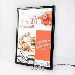 A1 Snap Frame Illuminated poster display case black LED menu box wholesale