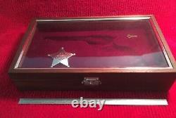 ARIZONA RANGERS Pistol Presentation Case Wood Display Box Fits Colt & Others