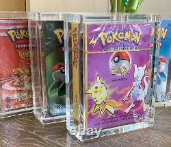 ARK-10XS Clear Acrylic Display Box Sealed Case fits Pokemon WoTC-Era Theme Decks