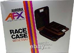 AURORA AFX Race Case Model Motoring TJet Slot Car Tool Pit Kit Box Display Tray