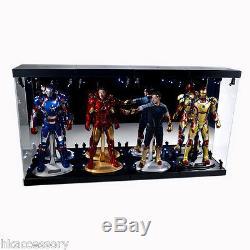 Acrylic Display Case LED Light Box for 4 12 1/6 Figure Caption America Hawkeye