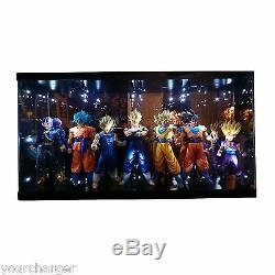 Acrylic Display Case LED Light Box for Banpresto Dragon Ball Master Stars Figure