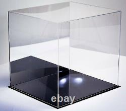 Acrylic Display Case Large Square Box with Mirror 16 x 13 x 14 (A024-MDS)