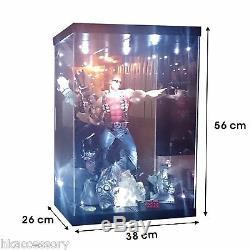 Acrylic Display Case Light Box for 18 1/4 Scale Batman Dark Knight Joker Figure