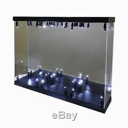 Acrylic Display Case Light Box for 3 12 1/6 Figure Captain America Steve Rogers