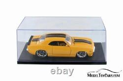 Acrylic Display Cases withBlack Base for 1/18 Scale Diecast Cars BOX OF 6 CASES