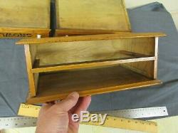 Antique 2 Drawer Crowley's Wooden Needles Thread Spool Sewing Box Cabinet