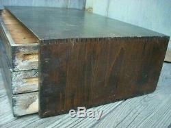 Antique 3 Drawer Spool Cabinet Brainerd & Armstrong Silk Dovetailed Display Case