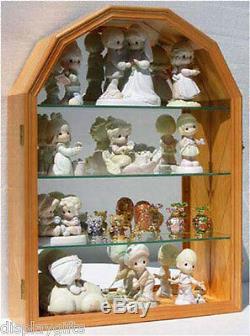 Arch Shape Wall Curio Cabinet Display Case Shadow Box Figurine Display Case