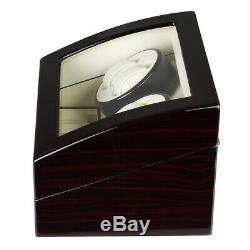 Automatic 4+6 Auto Rotation Luxury Wood Watch Winder Storage Display Case Box US
